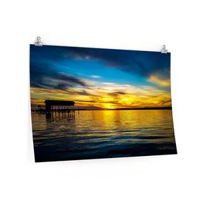 Poster Print:  Boat House Sunset
