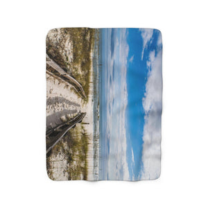 Sherpa Fleece Blanket: Pathway to the Beach