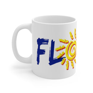 White Ceramic Mug: Florida Sunshine