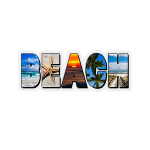 Sticker:  BEACH Letters