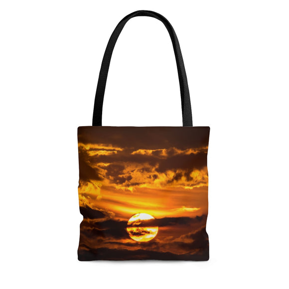 Tote Bag: Sunset Through the Clouds