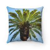 Polyester Square Pillow: Tropical Palm Tree