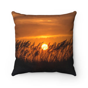 Polyester Square Pillow:  Sand Dunes Sunset