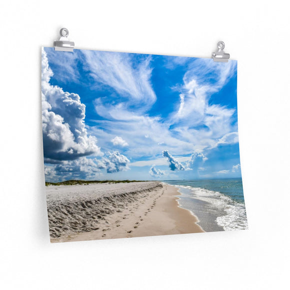 Premium Matte Poster Print: Beautiful Beach