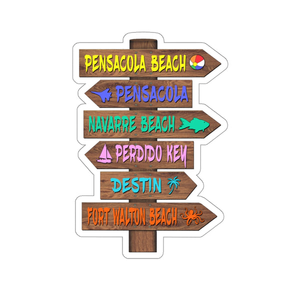 Stickers:  Emerald Coast Beach Sign