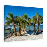 Canvas Wrap:  Island Palm Trees & Boats