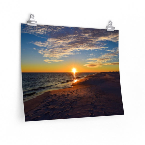Premium Matte Poster Print: Gulf of Mexico Sunset