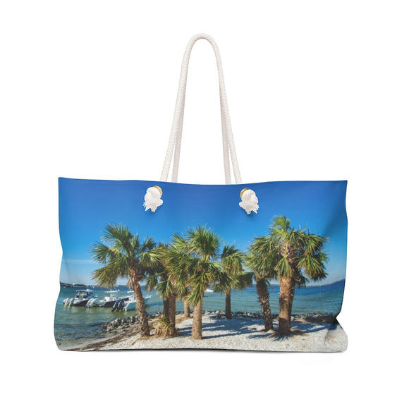 Weekender Bag: Island Palm Trees & Boats
