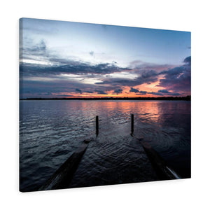 Canvas Wrap: Sunset over the Bay