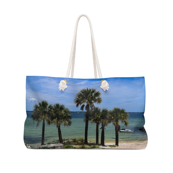 Weekender Bag:  Palm Trees on the Beach