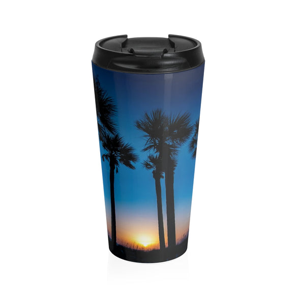 Stainless Steel Travel Mug:. Paradise Palms