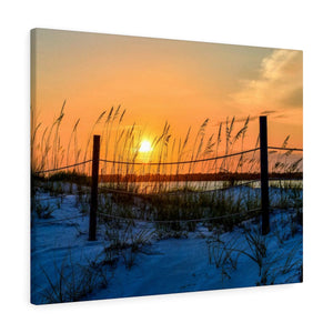 Canvas Wrap: Beach Sand Dunes Sunset