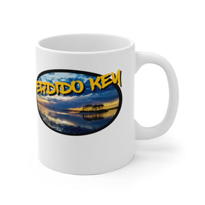 White Ceramic Mug:  Perdido Key