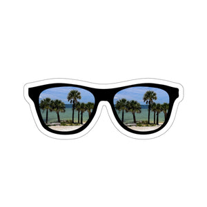 Sticker:  Sunglasses Palm Tree Beach