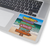 Sticker:  Emerald Coast Beach Sign with Gulf of Mexico