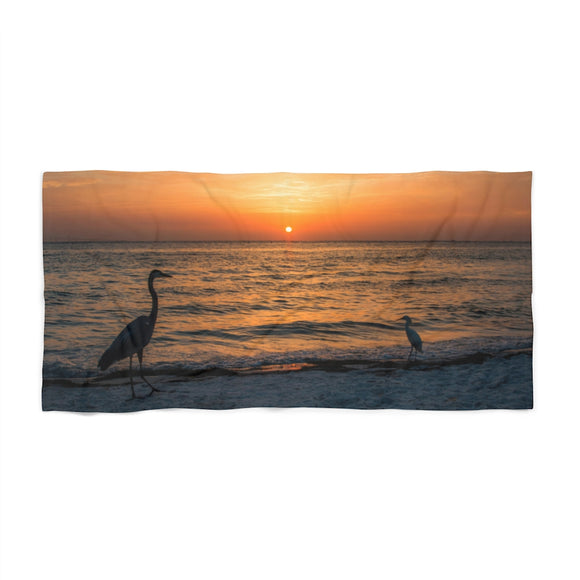 Beach Towel:  Bird Sunrise