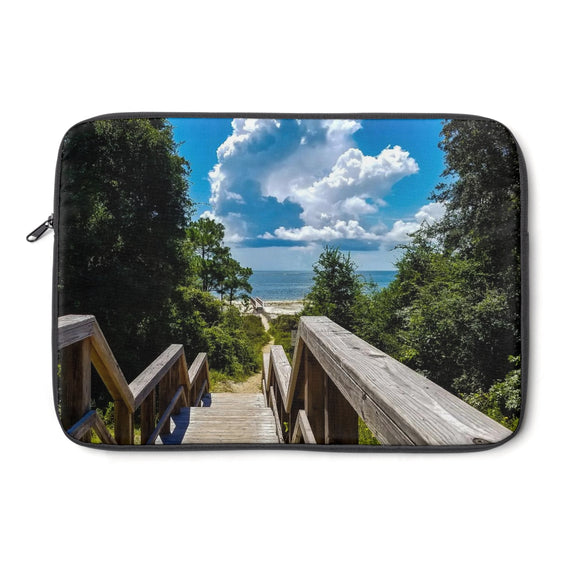 Laptop Sleeve: Walkway down to the Beach