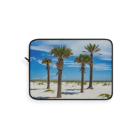 Laptop Sleeve:  Palm Trees & Ocean Breeze