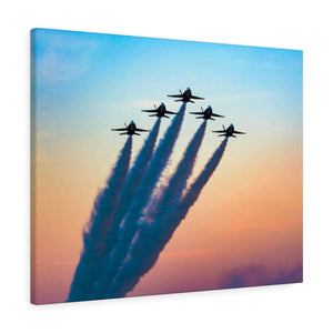 Canvas Wrap: Blue Angels at Sunset