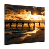 Canvas Wrap: Pensacola Beach Pier Sunset