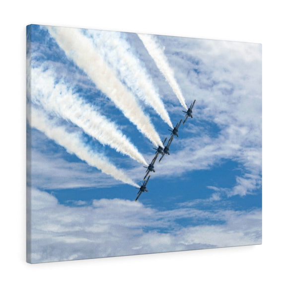 Canvas Wrap:  Blue Angels in the Clouds