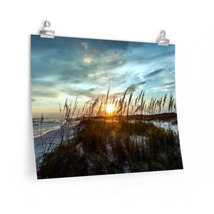 Premium Matte Poster Print:  Sunset behind the Dunes