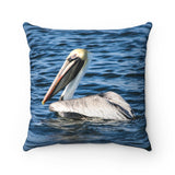 Polyester Square Pillow: Pelican