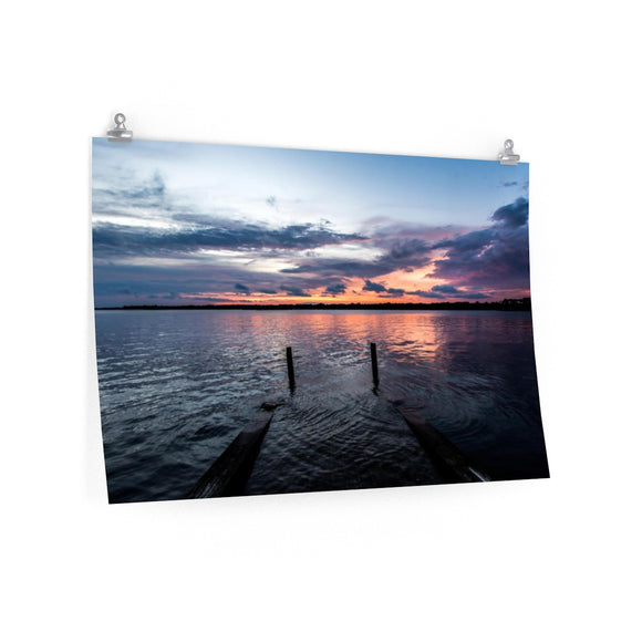 Premium Matte Poster Print: Sunset over the Bay