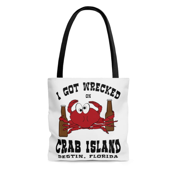 Tote Bag:  I got wrecked on Crab Island