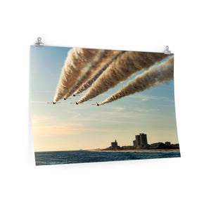 Poster Print:  Blue Angels over Pensacola Beach, Florida Pier