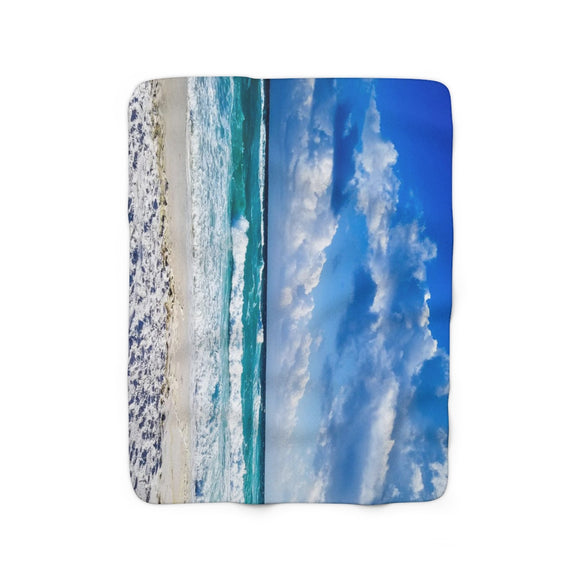 Sherpa Fleece Blanket: Beach Waves
