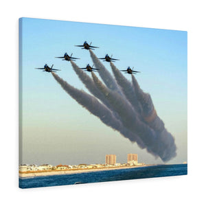 Canvas Wrap:  Blue Angels over Pensacola Beach, Florida