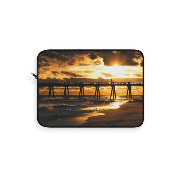 Laptop Sleeve:  Pensacola Beach Pier at Sunset