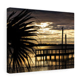 Canvas Wrap: Palm Tree Sunset
