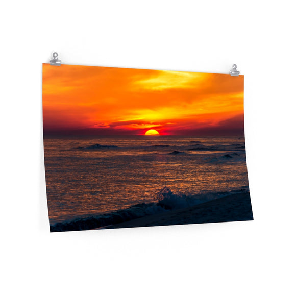 Poster Print:  Sunset on the Horizon