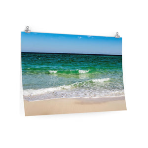 Premium Matte Poster Print: Emerald Coast Waves