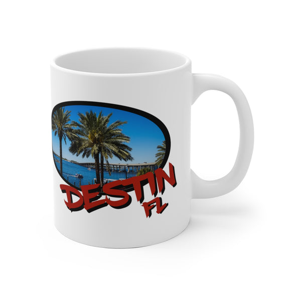 White Ceramic Mug:  Destin Florida