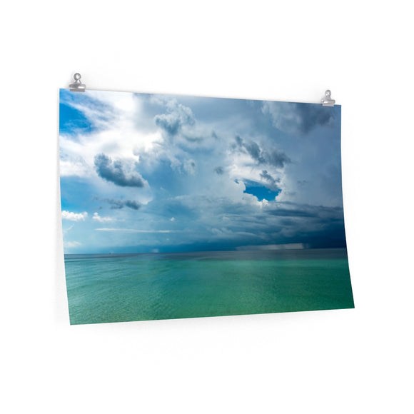 Poster Print:  Rainstorm over the Gulf