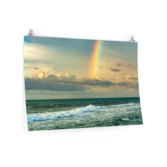 Poster Print:  Rainbow Waves