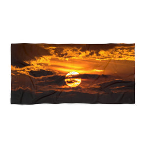 Beach Towel:  Sunset through the Clouds