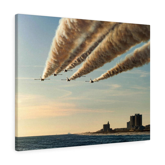 Canvas Wrap:  Blue Angels over Pensacola Beach, Florida Pier