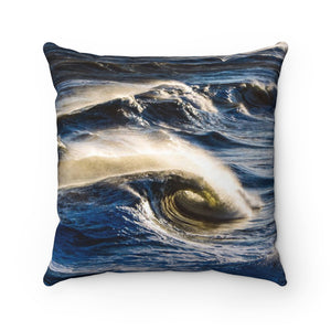 Polyester Square Pillow: Ocean Waves