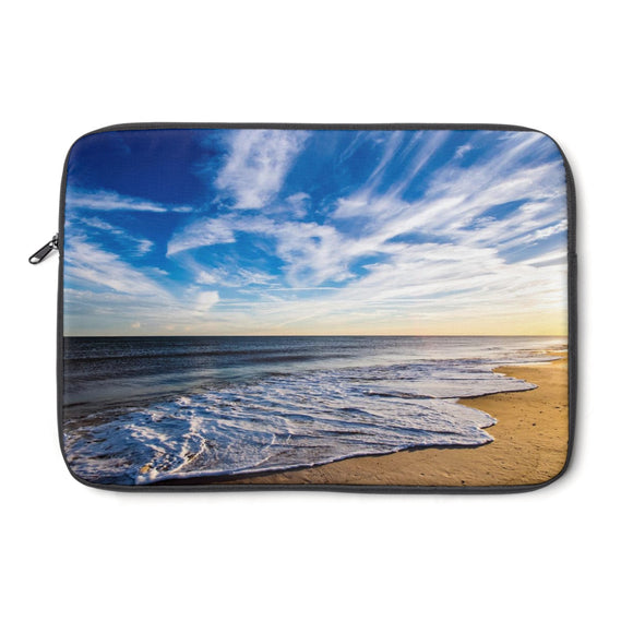 Laptop Sleeve : Golden Hour Beach Waves