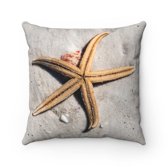 Polyester Square Pillow:  Starfish