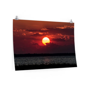 Poster Print:  Red Sunset