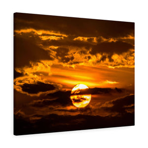 Canvas Wrap: Sunset Through the Clouds