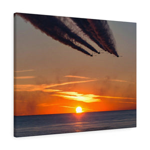 Canvas Wrap:  Blue Angels flyby Sunset