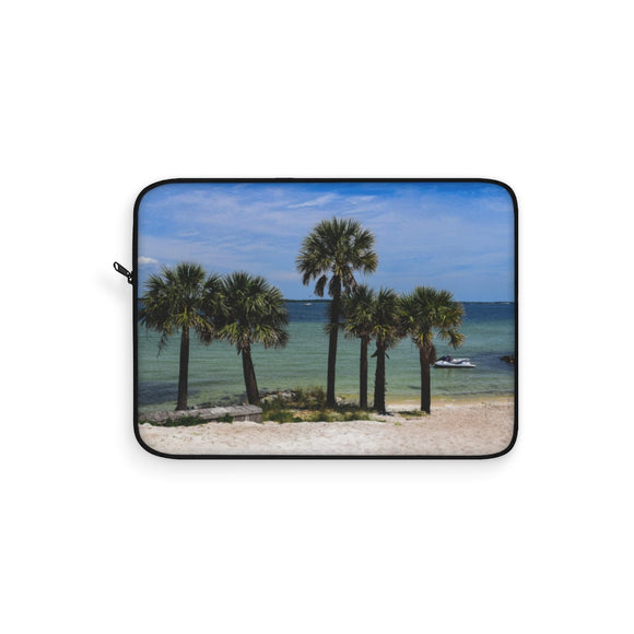 Laptop Sleeve: Palm Trees on the Beach