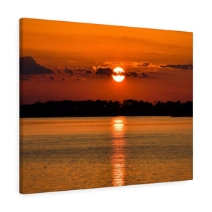 Canvas Wrap: Orange Sunset Reflection