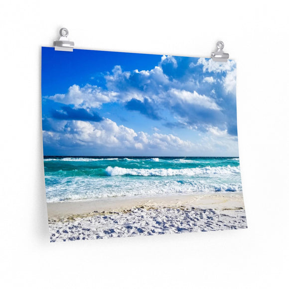 Premium Matte Poster Print: Beach Waves